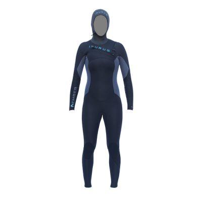 Ember 454 Hooded Women's Chest Zip Wetsuit